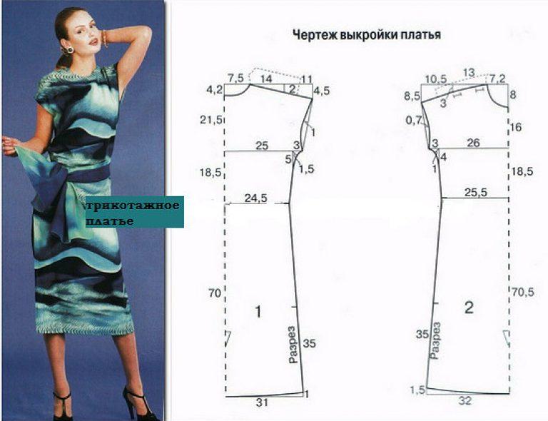 Платье летнее и выкройка