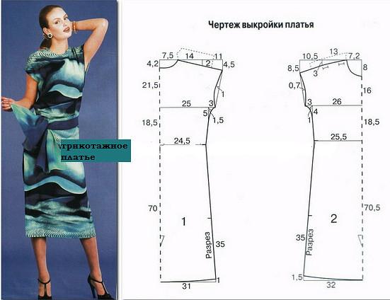 красивые и модные летние платья для полных женщин 2017, фото с выкройками 4
