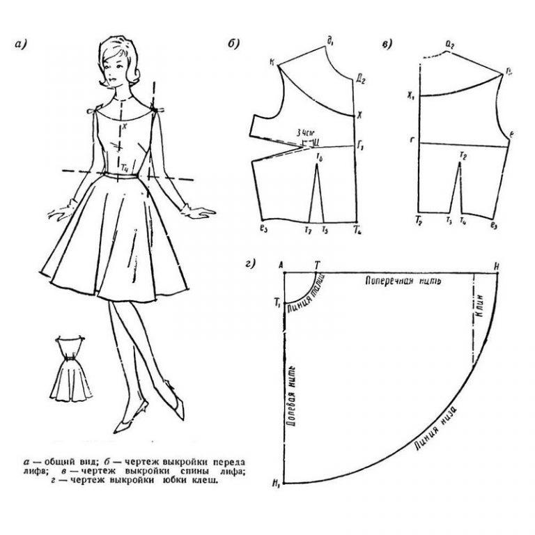 размера в 46 выкройка пол платья