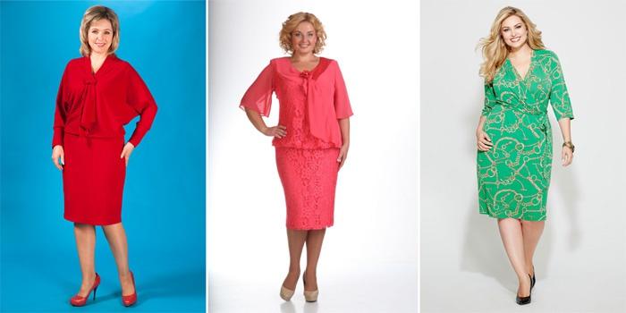 летние платья для полных женщин 2017, новинки и фасоны