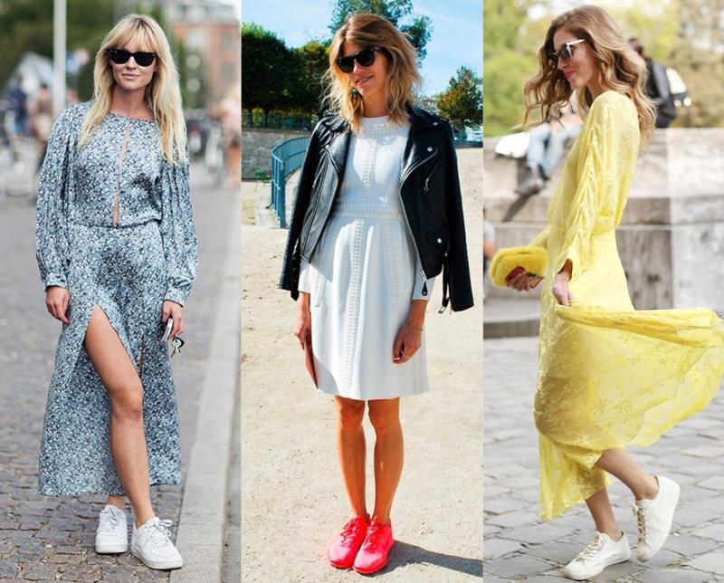 модные сеты с платьями лето 2017 года 4