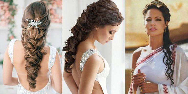Греческие прически на выпускной на длинные волосы