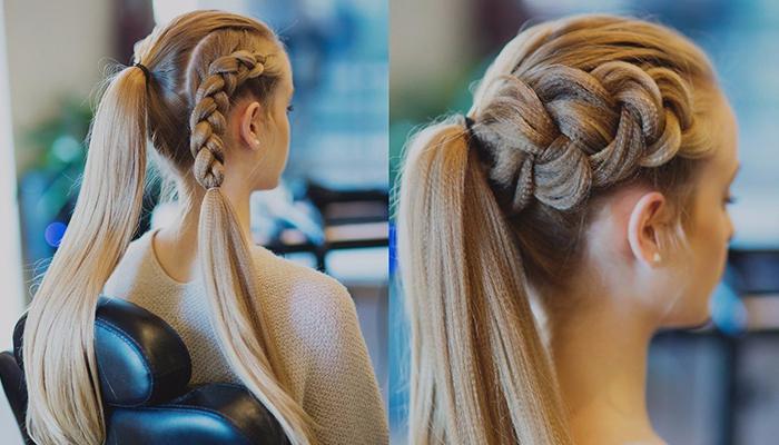объемные косы и прически на основе плетений 3