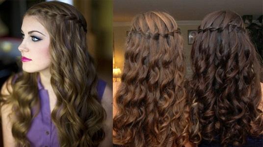коса-водопад на основе локонов 2