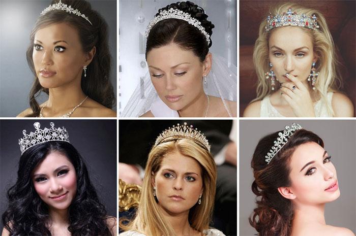 накрученные волосы с короной или диадемой 3