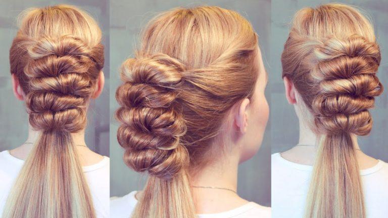 прически на средние волосы на выпускной 2017, мастер-класс на фото 5
