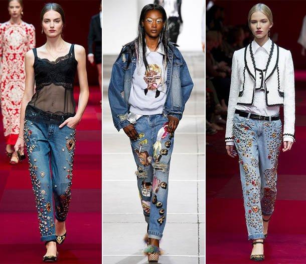 образы с джинсами с вышивкой и завышенной талией 2
