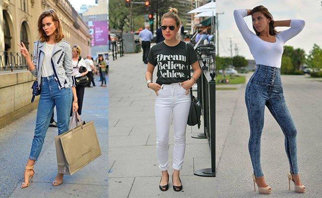 с чем носить белые и голубые джинсы лето 2017, фото 1