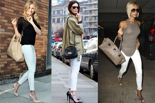 с чем носить белые и голубые джинсы лето 2017, фото 2