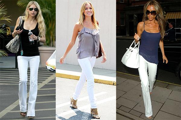 с чем носить белые и голубые джинсы лето 2017, фото 3