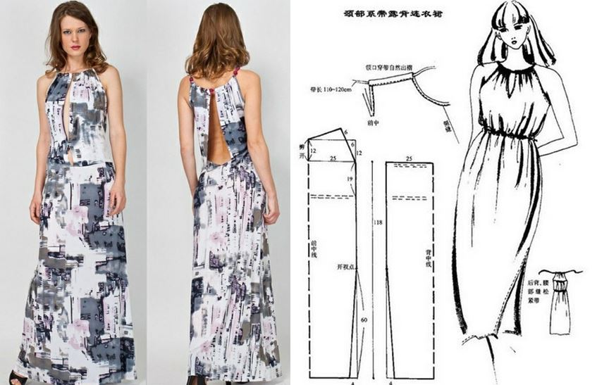 Простое длинное платье своими руками выкройки 35
