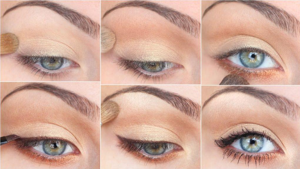 Простой макияж для серых глаз на каждый день