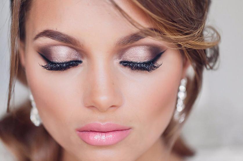 Новинка в свадебном макияже - бронзовые тени