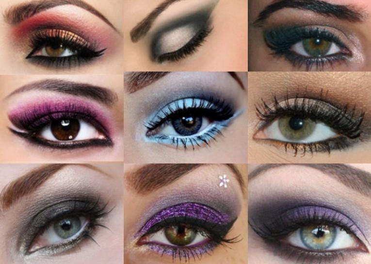 Ошибочно полагать, что дымчатый макияж бывает только черных тонов, онможет быть любых схожих оттенков, которые, в свою очередь, подбираются под цвет глаз