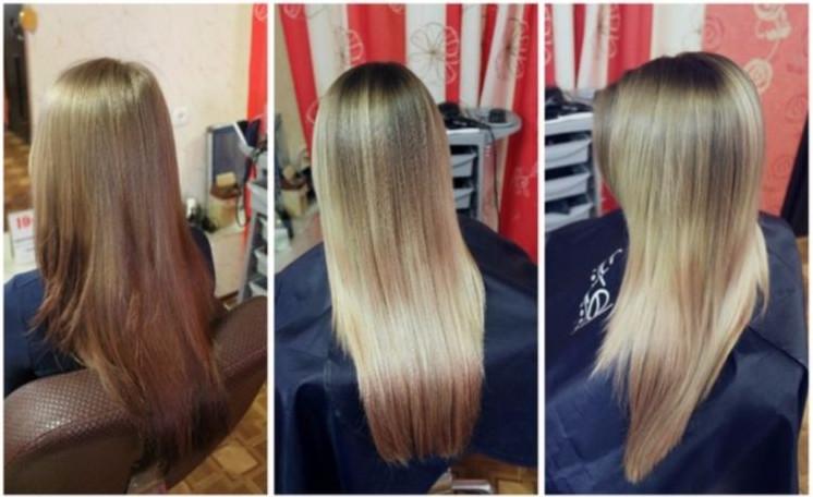 Калифорнийское мелирование можно делать на разную длину и на любой цвет волос