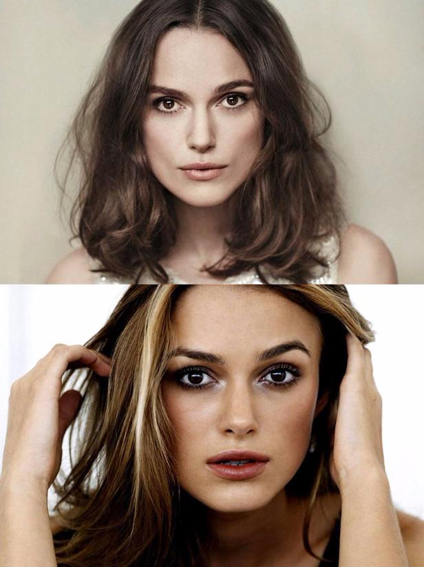 Например, чтобы визуально увеличить глаза, цветовые акценты расставляются на чёлке или на волосах на уровне глаз