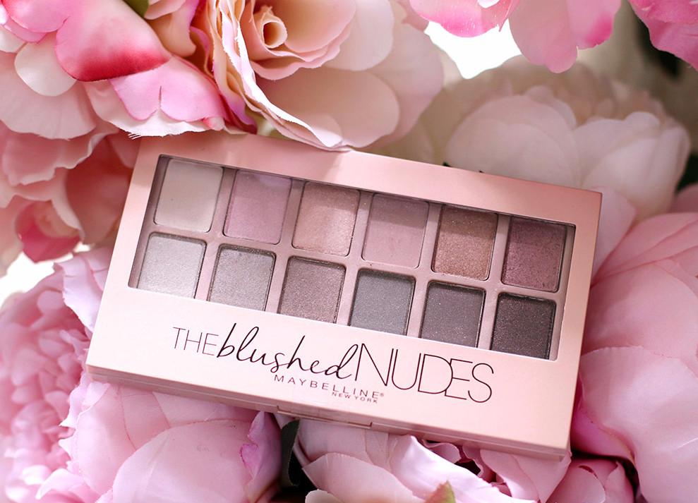 Нежно-розовые оттенки для макияжа в модном стиле с палеткойThe Blushed Nudes