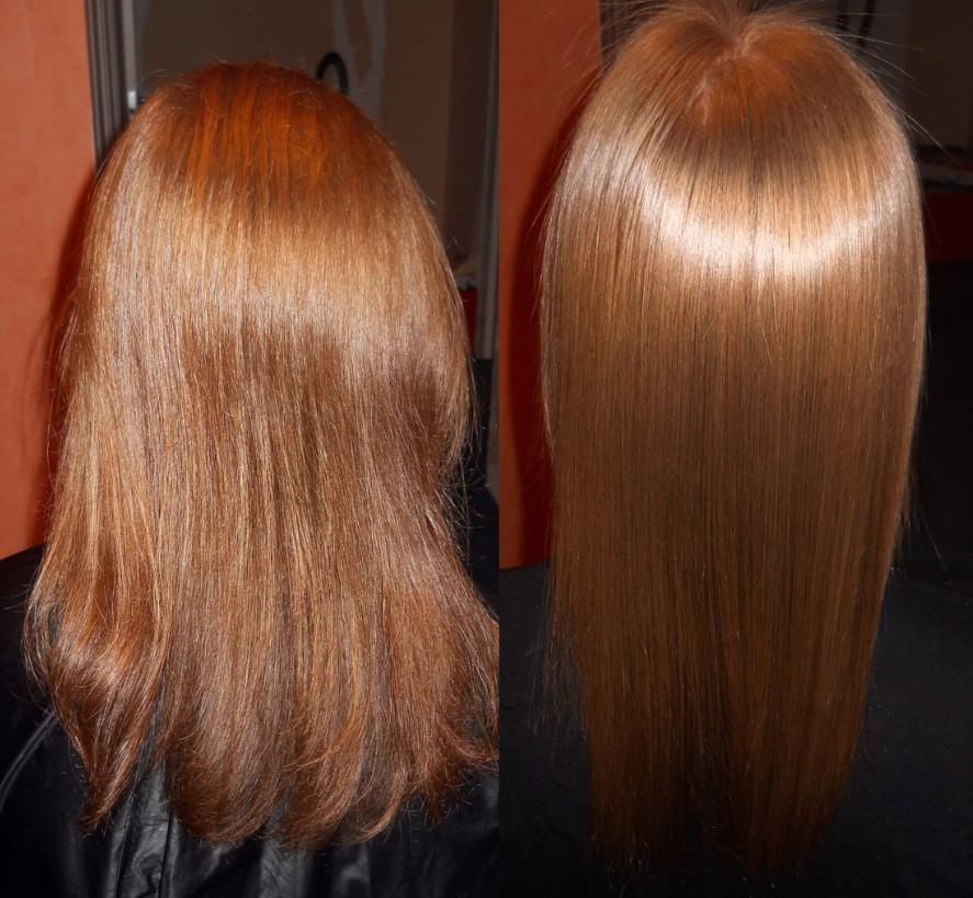 После желатинового ламинирования проявляется эффект неровности волос на кончиках, возможно, действительно придется посетить мастера, но уже не домашнего, а салонного