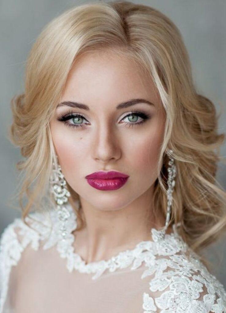 свадебный макияж для блондинок 2