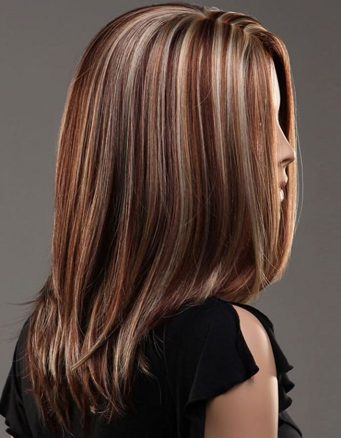 мелирование средние волосы