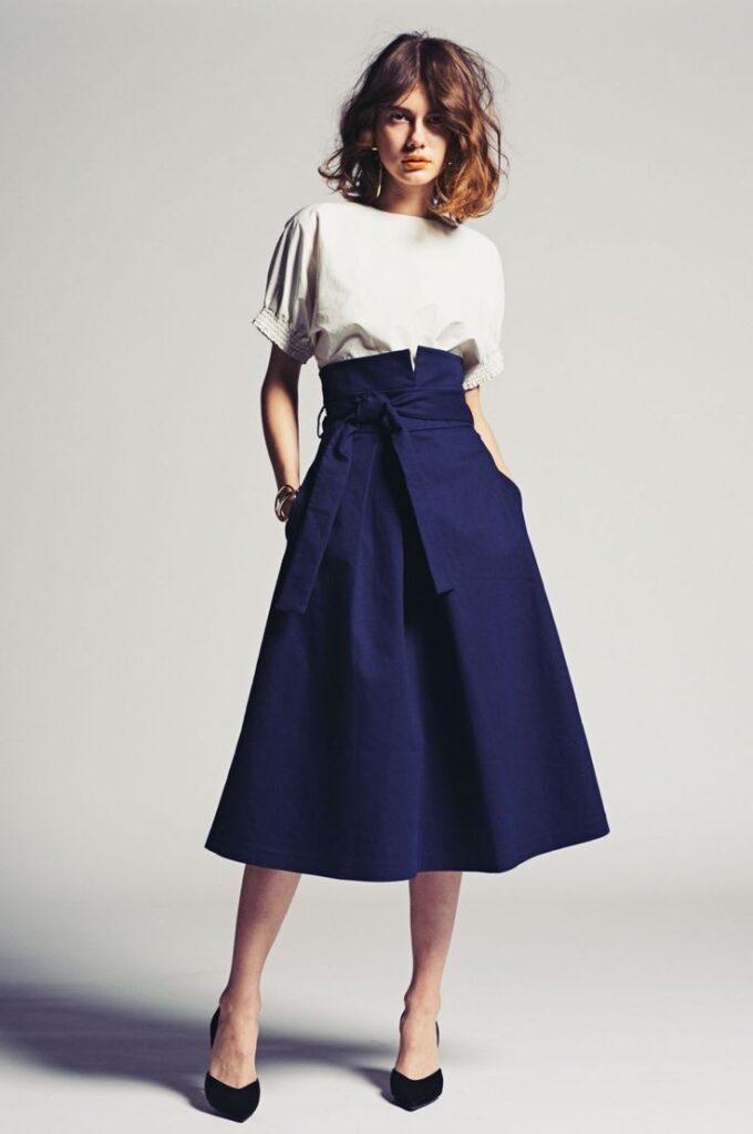 модные юбки с завышенной талией