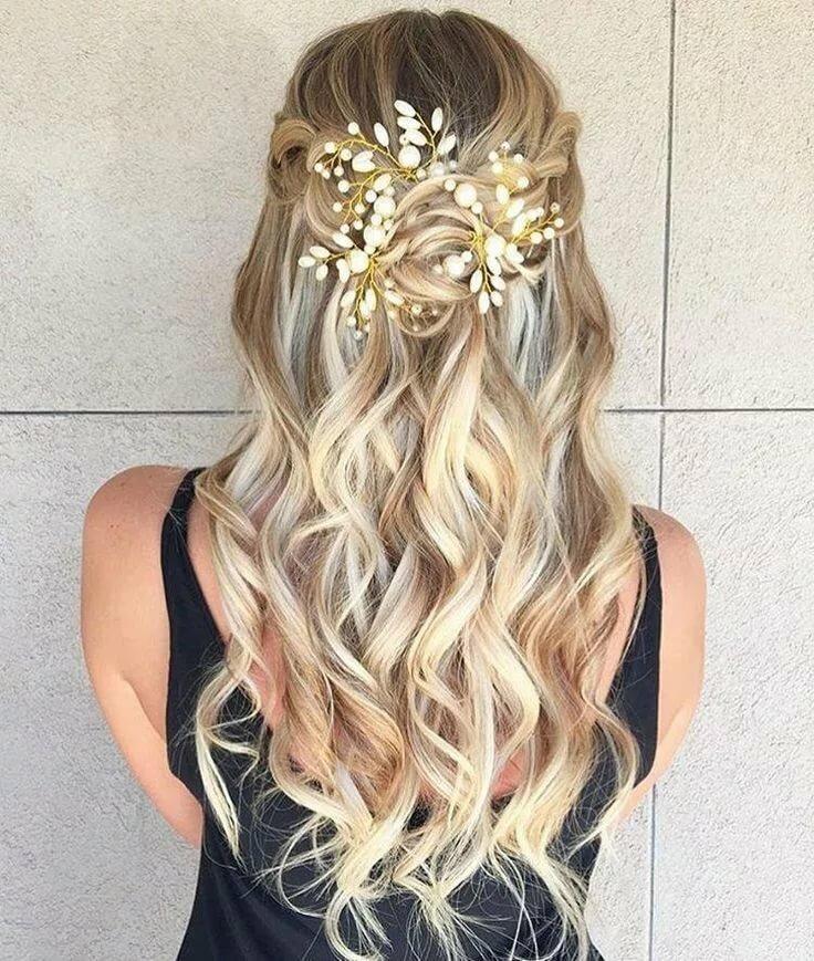 коса водопад с цветами на выпускной 2020