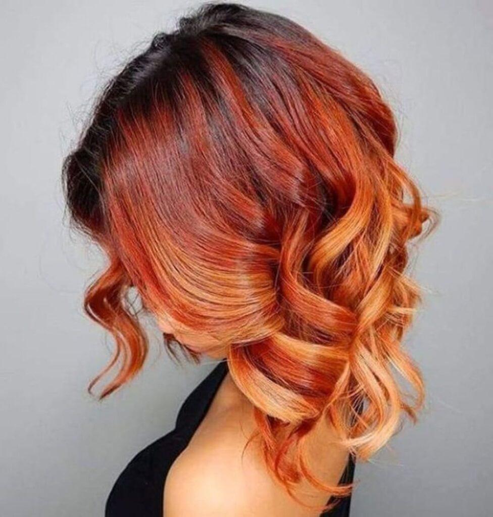 окрашивание омбре средние волосы