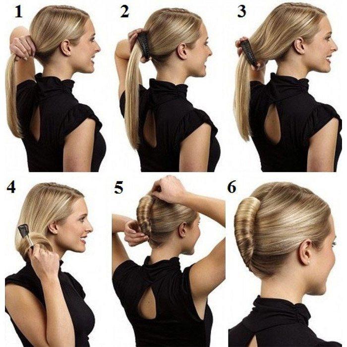 причёска ракушка пошаговая инструкция