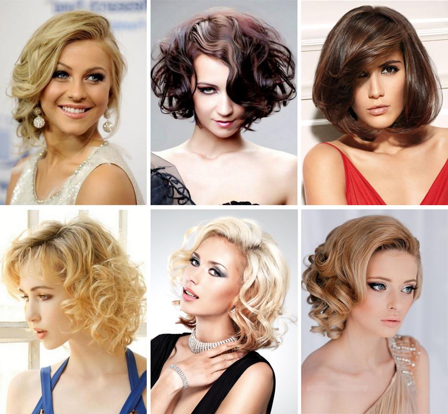 варианты укладок на средние волосы