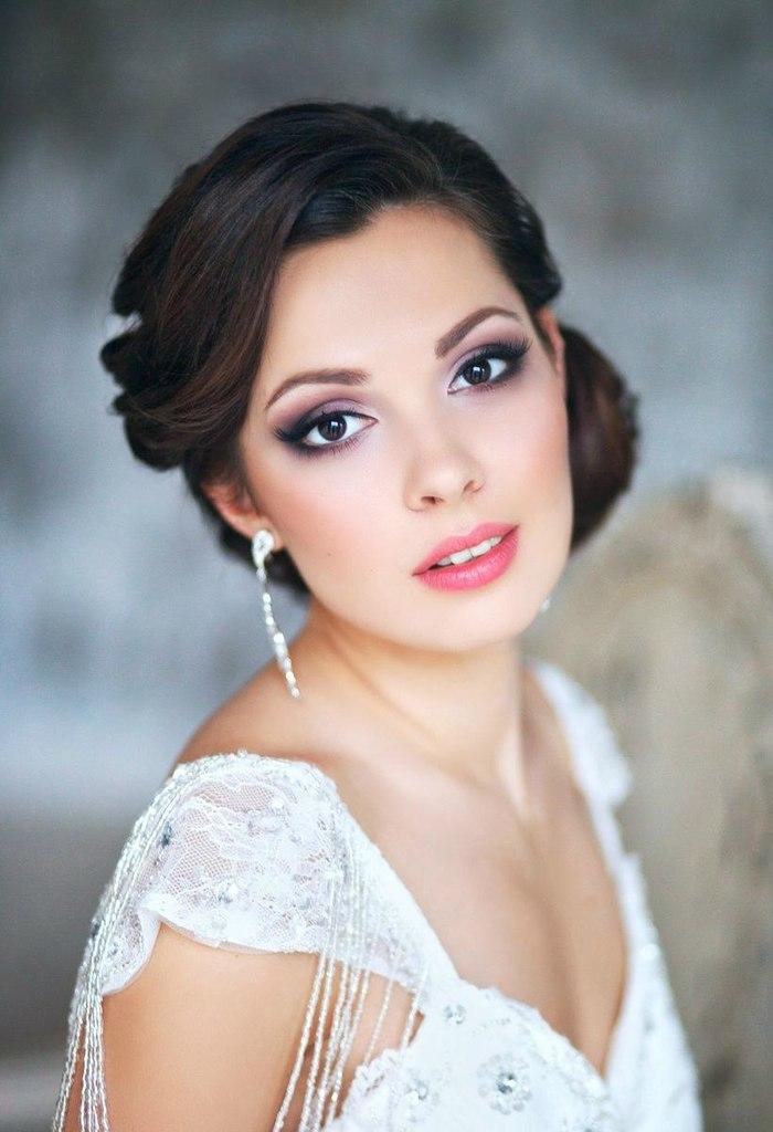 свадебный макияж для брюнеток и шатенок весна-лето 2021 2