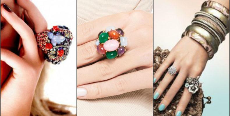 Модные кольца весна-лето 2017, фото
