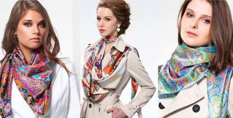 Модные шейные платки, палантины и шарфы весна-лето 2017