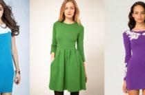 Модные трикотажные платья весна-лето 2017